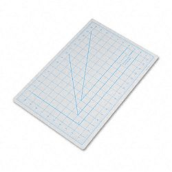 "Self-Healing Cutting Mat Nonslip Bottom 1"" Grid 12"" x 18"" Gray (EPIX7761)"
