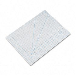 "Self-Healing Cutting Mat Nonslip Bottom 1"" Grid 18"" x 24"" Gray (EPIX7762)"