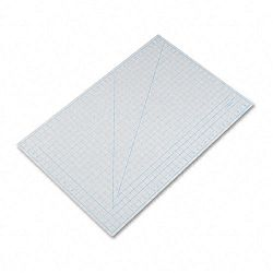 "Self-Healing Cutting Mat Nonslip Bottom 1"" Grid 24"" x 36"" Gray (EPIX7763)"