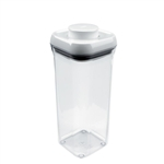 Good Grips Pop Container Small Square 1.5 Quart WhiteClear (OXO1071398)