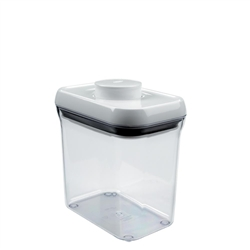 Good Grips Pop Container Rectangle 1.5 Quart WhiteClear (OXO1071400)