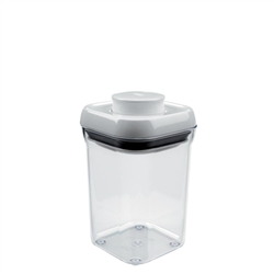 Good Grips Pop Container Small Square 0.9 Quart WhiteClear (OXO1071401)