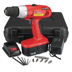 "Great Neck 18 Volt 2 Speed Cordless Drill 38"" Keyless Chuck (GNS80133)"