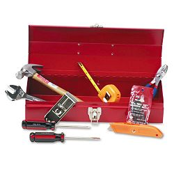 16-Piece Light-Duty Office Tool Kit in 16 Metal Box Red (GNSCTB9)