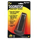 "Big Foot Doorstop No-Slip Rubber Wedge 2-14""w x 4-34""d x 1-14""h Brown (MAS00920)"