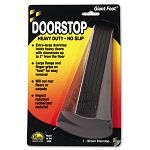 "Giant Foot Doorstop No-Slip Rubber Wedge 3-12""w x 6-34""d x 2""h Brown (MAS00964)"