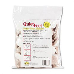 Quiet Feet Self-Adhesive Noise Reducers 1-14 Dia. Felt Pads Beige Pack of 100 (MAS88847)
