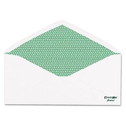 Envirotec 100% Recycled Security Envelope #10 20 Lb. Box of 500 (AMP19385)