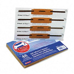 E-Z Place Self-Adhesive Paper File Fasteners Two Inch Capacity Pack of 48 (ESS99372)