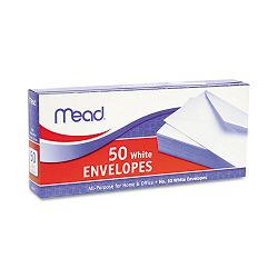 "Business Envelope 4-18"" x 9-12"" 20 Lb. White Box of 50 (MEA75050)"