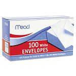 "Business Envelope 3-58"" x 6-12"" 20 Lb. White Box of 100 (MEA75100)"