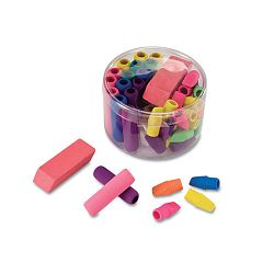 Eraser Pack Assorted Colors Pack of 45 (OIC30239)