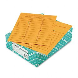 "Light Brown Kraft Redi-Tac Box-Style Interoffice Envelope 10"" x 13"" Box of 100 (QUA63666)"