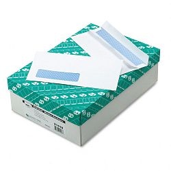 Redi-Seal Security Tinted Window Envelope Contemporary #10 White Box of 500 (QUA21418)