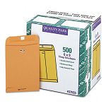 "Clasp Envelope 6"" x 9"" 28 Lb. Light Brown Carton of 500 (QUA37555)"
