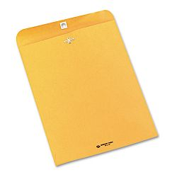 "Clasp Envelope Side Seam 10"" x 13"" 28 Lb. Light Brown Carton of 250 (QUA37597)"