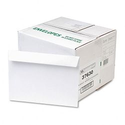 "Open Side Booklet Envelope Contemporary 12"" x 9"" White Box of 500 (QUA37630)"