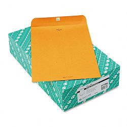 "Clasp Envelope 10"" x 15"" 32 Lb. Light Brown Box of 100 (QUA37798)"
