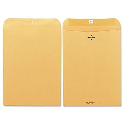 "Clasp Envelope 9"" x 12"" 28 Lb. Light Brown Box of 100 (QUA37890)"