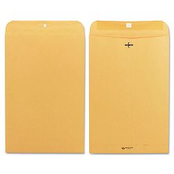 "Clasp Envelope 10"" x 15"" 28 Lb. Light Brown Box of 100 (QUA37898)"