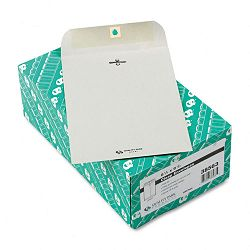 "Clasp Envelope 6-12"" x 9-12"" 28 Lb. Executive Gray Box of 100 (QUA38563)"