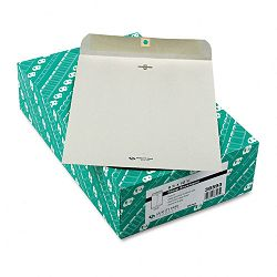 "Clasp Envelope 9-12"" x 12-12"" 28 Lb. Executive Gray Box of 100 (QUA38593)"