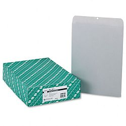 "Clasp Envelope 12"" x 15-12"" 28 Lb. Executive Gray Box of 100 (QUA38610)"