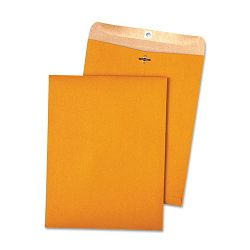 "100% Recycled Brown Kraft Clasp Envelope 10"" x 13"" Light Brown Box of 100 (QUA38712)"