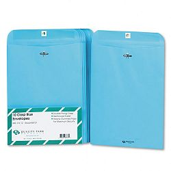 "Fashion Color Clasp Envelope 9"" x 12"" 28 Lb. Blue Pack of 10 (QUA38737)"