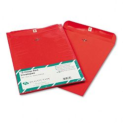"Fashion Color Clasp Envelope 10"" x 13"" 28 Lb. Red Pack of 10 (QUA38754)"