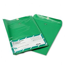 "Fashion Color Clasp Envelope 10"" x 13"" 28 Lb. Green Pack of 10 (QUA38755)"