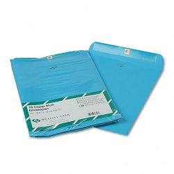 "Fashion Color Clasp Envelope 10"" x 13"" 28 Lb. Blue Pack of 10 (QUA38757)"