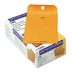 "Park Ridge Kraft Clasp Envelope 6"" x 9"" Light Brown Box of 100 (QUA43055)"