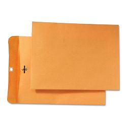 "Park Ridge Kraft Clasp Envelope 9"" x 12"" Light Brown Box of 100 (QUA43090)"