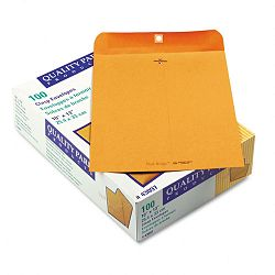 "Park Ridge Kraft Clasp Envelope 10"" x 13"" Light Brown Box of 100 (QUA43097)"