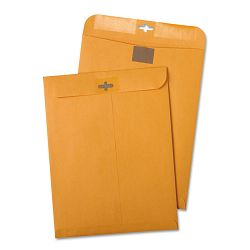 "Postage Saving Clear-Clasp Kraft Envelopes 6"" x 9"" Light Brown Box of 100 (QUA43468)"