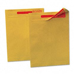 "Reveal-N-Seal Catalog Envelope 10"" x 13"" Light Brown Box of 100 (QUA44420)"