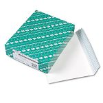 "Redi Strip Open Side Booklet Envelope Contemporary 12"" x 9"" White Box of 100 (QUA44580)"