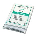 "Redi-Strip Poly Mailer Side Seam 10"" x 13"" White Pack of 100 (QUA46197)"