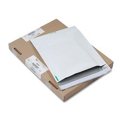 "Redi-Strip Poly Expansion Mailer Side Seam 13"" x 16"" x 2"" White Carton of 100 (QUA46393)"