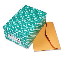 "Open Side Booklet Envelope Traditional 15"" x 10"" Light Brown Box of 100 (QUA54301)"