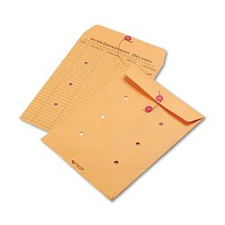 "Light Brown Kraft String & Button Interoffice Envelope 9"" x 12"" Carton of 100 (QUA63462)"