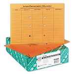 "Brown Kraft Resealable Redi-Tac Open Side Interoffice Envelope 12"" x 9"" Box of 100 (QUA63466)"