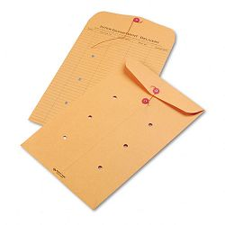 "Light Brown Kraft String & Button Interoffice Envelope 10"" x 15"" Carton of 100 (QUA63564)"