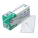 White Wove Business Envelope Convenience Packs V-Flap #10 Recycled Box of 100 (QUA69007)