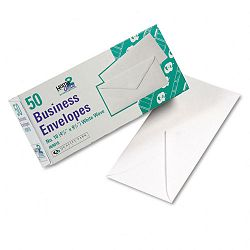 White Wove Business Envelope Convenience Packs V-Flap #10 Box of 50 (QUA69016)