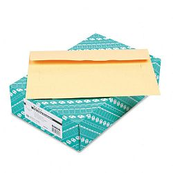 "Filing Envelopes 10"" x 14-34"" 3 Point Tag Cameo Buff Box of 100 (QUA89606)"