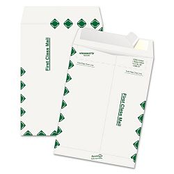 "Tyvek USPS First Class Mailer Side Seam 9"" x 12"" White Box of 100 (QUAR1470)"