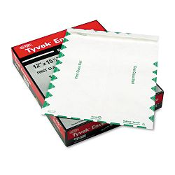 "Tyvek USPS First Class Mailer Side Seam 12"" x 15-12"" White Box of 100 (QUAR1800)"
