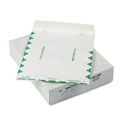 "White Leather Tyvek Mailer First Class 10"" x 13"" White Box of 100 (QUAR3150)"